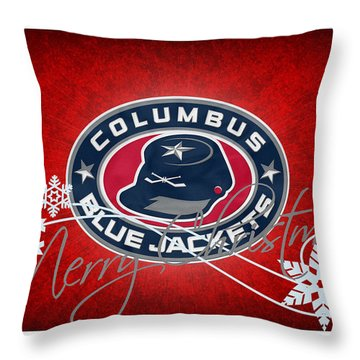 Columbus Blue Jackets Throw Pillow