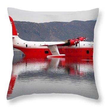Coulson Martin Hawaii Mars Throw Pillow by Jeff Lowe