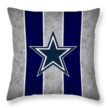Dallas Cowboys Throw Pillow