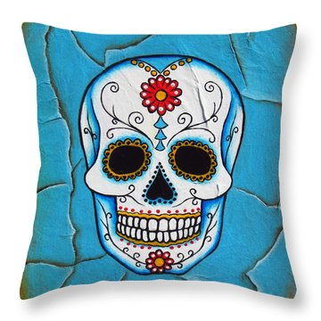 Day Of The Dead Throw Pillow