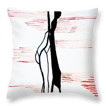 Dinka Lady - South Sudan Throw Pillow by Gloria Ssali