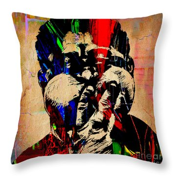 Dizzy Gillespie Collection Throw Pillow by Marvin Blaine