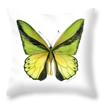 8 Goliath Birdwing Butterfly Throw Pillow