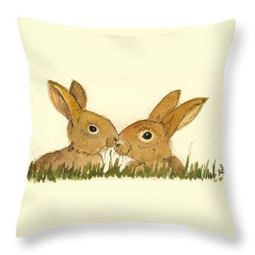 Hare Throw Pillows