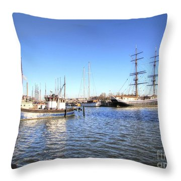 Throw Pillow featuring the pyrography Helsinki  Finland by Yury Bashkin