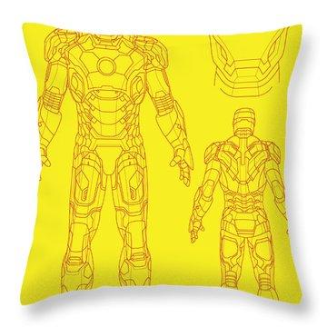 Iron Man Throw Pillow by Caio Caldas