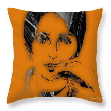 Joan Baez Collection Throw Pillow by Marvin Blaine