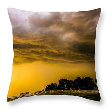 Late Afternoon Nebraska Thunderstorms Throw Pillow