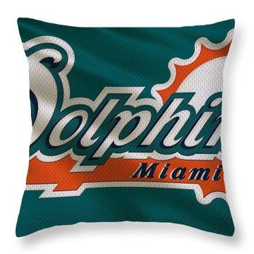 Miami Dolphins Uniform Throw Pillow by Joe Hamilton