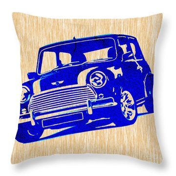 Mini Cooper Throw Pillow by Marvin Blaine