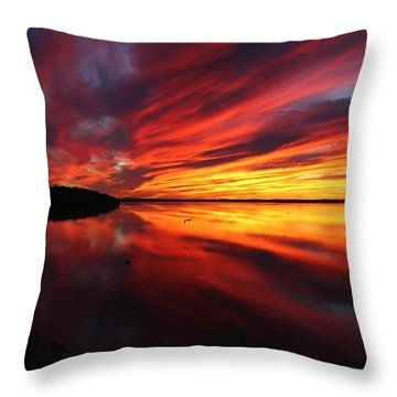 Missisquoi Sunset Throw Pillow