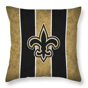 New Orleans Saints Throw Pillow by Joe Hamilton