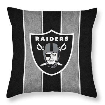Oakland Raiders Throw Pillow by Joe Hamilton