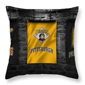 Pittsburgh Pirates Throw Pillow by Joe Hamilton