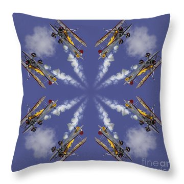 8 Planes Throw Pillow by Jerry Fornarotto