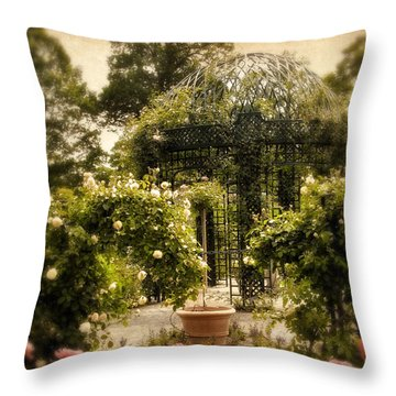 Rose Arbor Throw Pillow