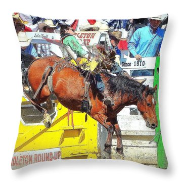 8 Seconds-4 Throw Pillow