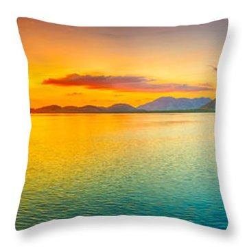 Sunset Panorama Throw Pillow