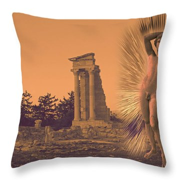 Temple Of Apollo  Throw Pillow by Augusta Stylianou