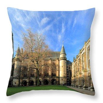 University Of Glasgow Throw Pillow