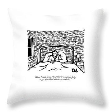 When I Can't Sleep Throw Pillow