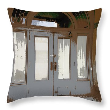 806 North - Out Of The Weather Throw Pillow by Daniel Hagerman