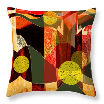 807 - Walk Through The Autumn Forest Throw Pillow
