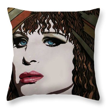 80's Barbra Throw Pillow