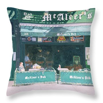 80th And Amsterdam Avenue Throw Pillow by Anthony Butera