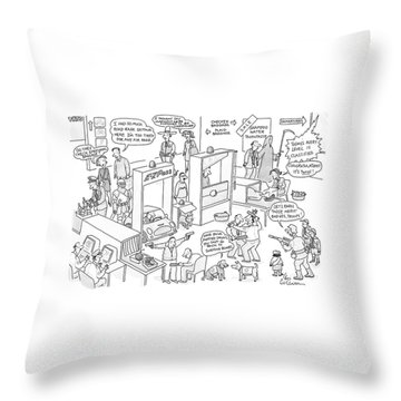 New Yorker November 27th, 2006 Throw Pillow