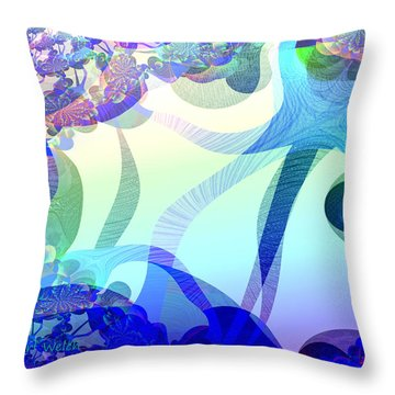 872 - Spring  Violets ...  Throw Pillow by Irmgard Schoendorf Welch