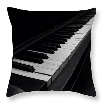 88 Keys Throw Pillow by Thomas Woolworth