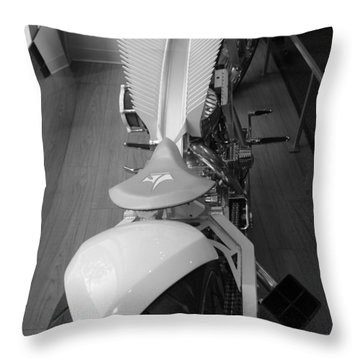 9/11 Memorial Bike In Black And White Throw Pillow by Rob Hans