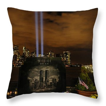 9-11 Monument Throw Pillow