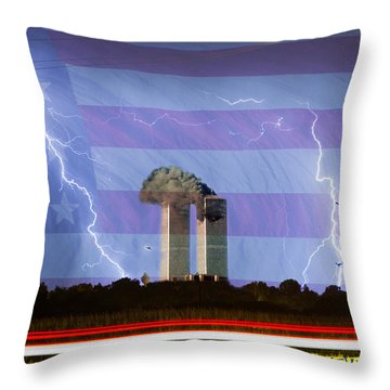 9-11 We Will Never Forget 2011 Poster Throw Pillow