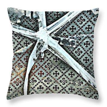 Broken Window Throw Pillow by Jason Michael Roust