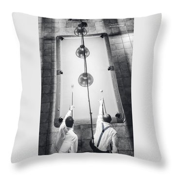 Throw Pillow featuring the photograph 9 Ball Lag by Stwayne Keubrick