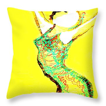 Dinka Lady - South Sudan Throw Pillow by Gloria Ssali