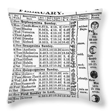 Family Almanac, 1874 Throw Pillow by Granger