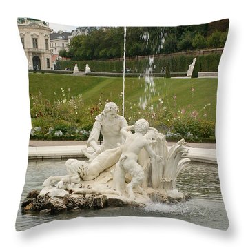 Fountain Throw Pillow by Evgeny Pisarev