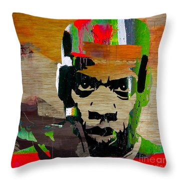Jay Z Throw Pillow by Marvin Blaine