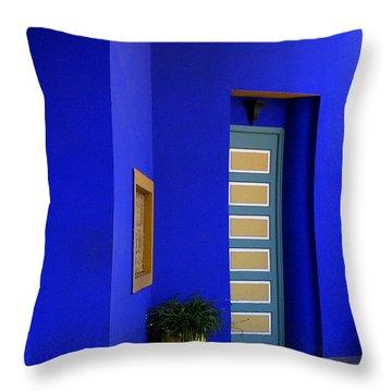 Majorelle Garden Marrakesh Morocco Throw Pillow by Ralph A  Ledergerber-Photography