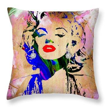 Marilyn Monroe Diamond Earring Collection Throw Pillow