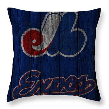 Montreal Expos Throw Pillow