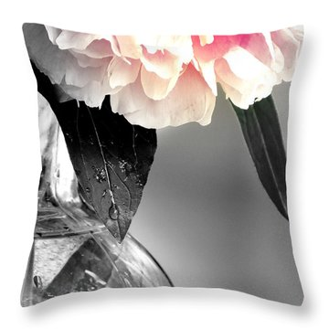 Peony Throw Pillow by France Laliberte