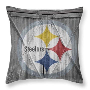 Pittsburgh Steelers Throw Pillow by Joe Hamilton