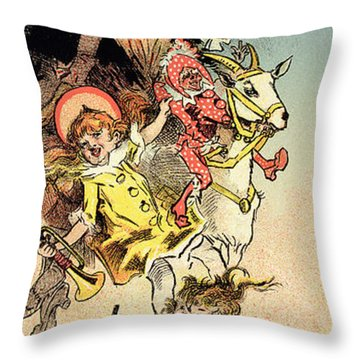 Reproduction Of A Poster Advertising Throw Pillow by Jules Cheret