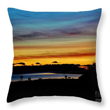 Throw Pillow featuring the photograph Sunset by Katy Mei