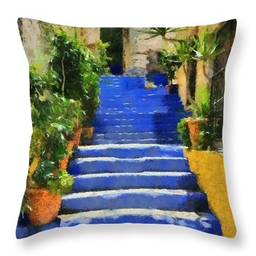 Symi Island Throw Pillow