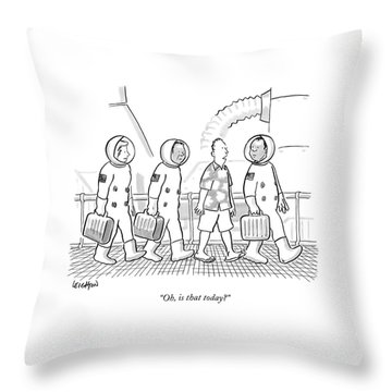Oh, Is That Today? Throw Pillow by Robert Leighton